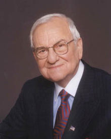 Lee Iacocca, corporate spokesperson for Chrysler